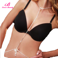 New design sexy women silver waist chain and necklace