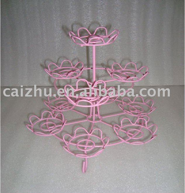 3-Tier decorative metal Cupcake Stand
