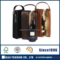 top-grade fancy stand leather wine box for wholesale