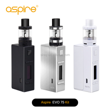 Best selling e-sigaret 75w nx75 tc mod 2ml capacity aspire evo75 e sigaret 2016
