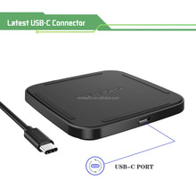 Choetech Qi enable USB C Single Coil Fast Wireless Charger for Samsung mobile