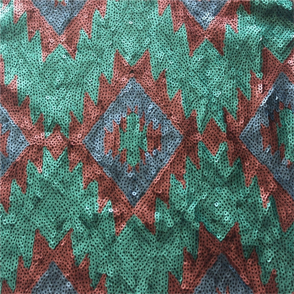 Fancy sequins fabric with all over sequin embroidery