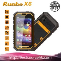 "China Original Runbo X6 phone IP67 Dustproof Waterproof Outdoor Smartphone 5.0"" MTK6589T Outdoor cell phone"