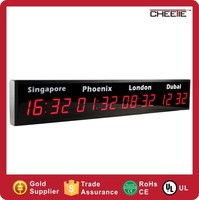 Hot Sale Red Digital Display World Clocks