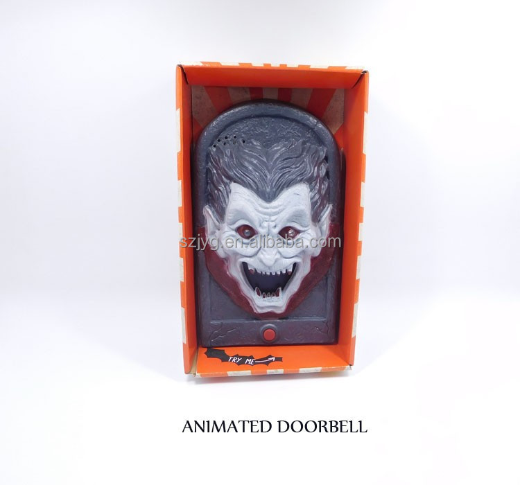 Electronic Halloween Trick Door Bell with Terrorist Sound Flashing Tongue Spit Out