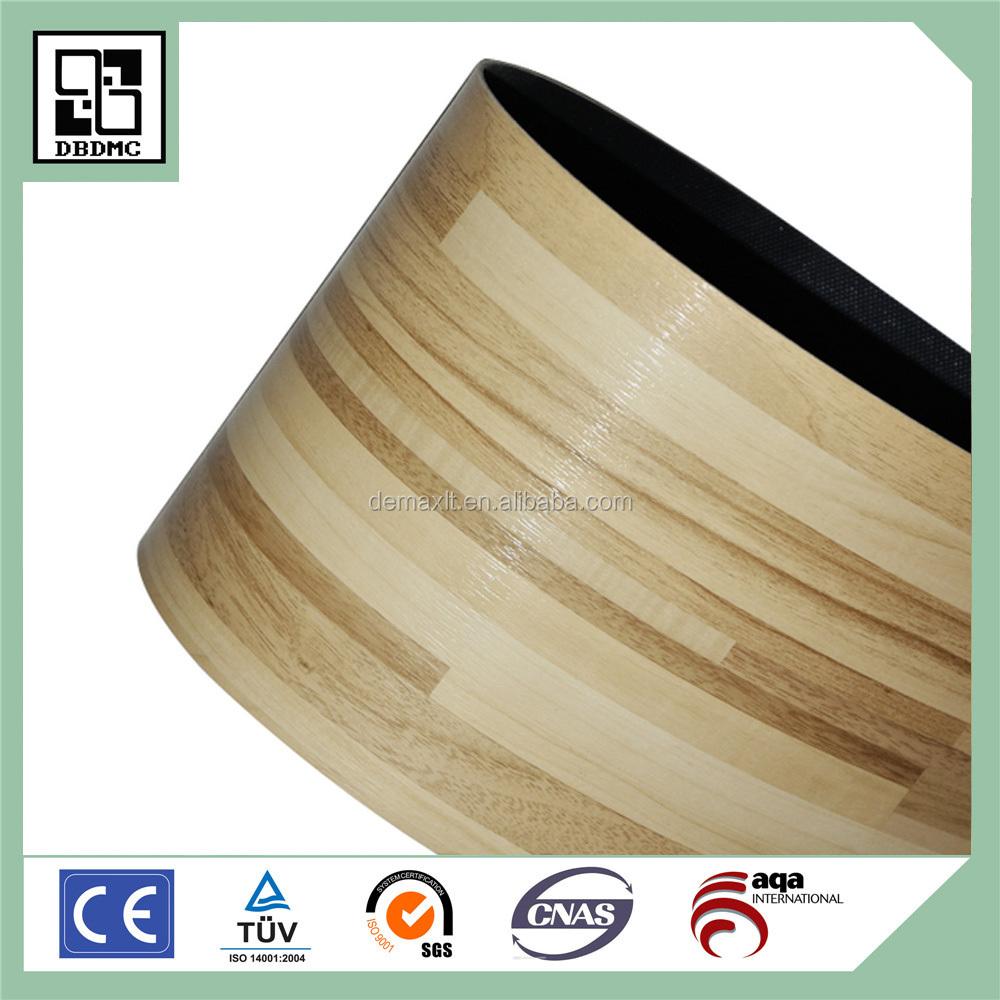 Indoor wood look roll pvc vinyl flooring linoleum flooring for Wood look linoleum roll