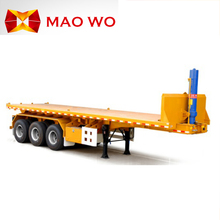 MAOWO 40ft container transport hydraulic lifting 30 ton 40 cubic meter container tipper trailer