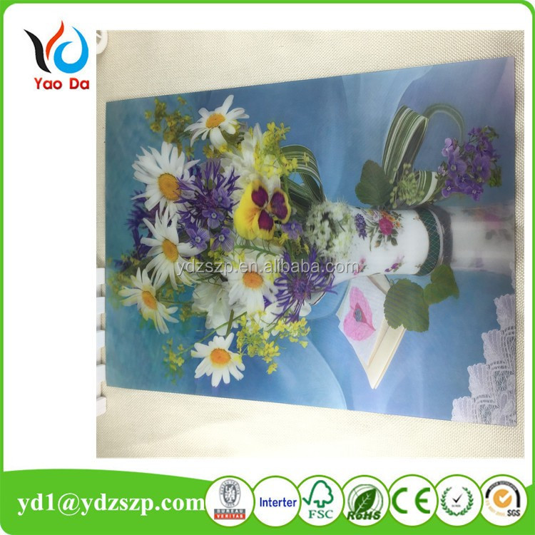 2017 new item stock lenticular pictures for home decoration