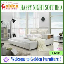 Golden Furniture white leather bed reliance wonderful bedroom furniture G985# on sale