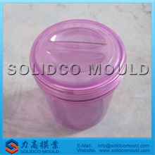 Easy carry plastic food bucket mould for storage