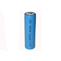 Rechargeable Lithium li-ion battery 3.2V 500mAh ifr 14500 battery cell