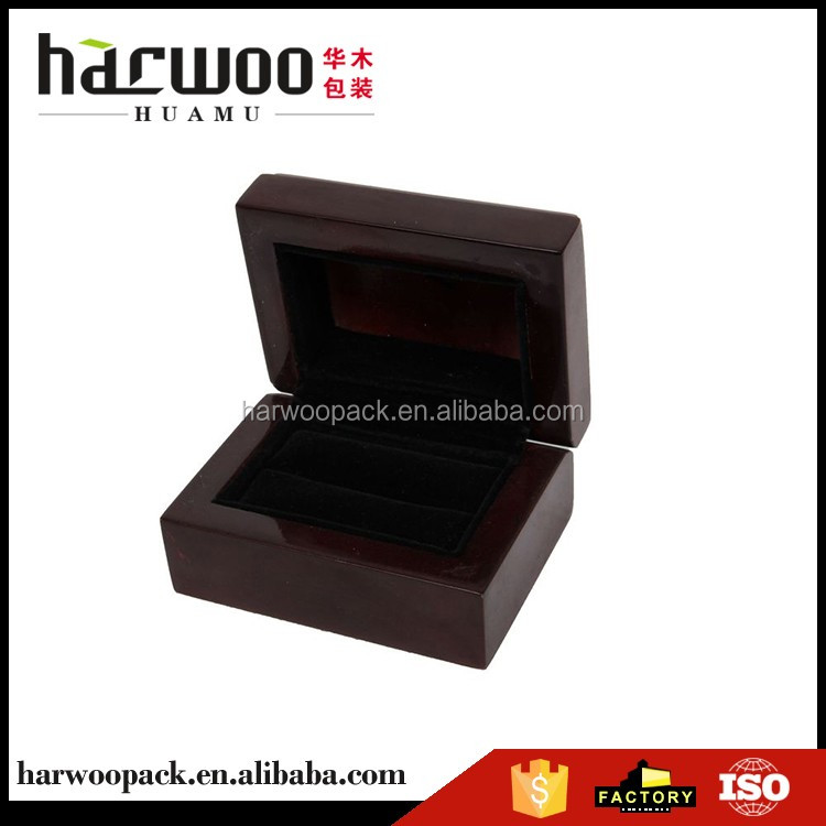 wholesale cosmetic box buy jewellery case Painted black velvet