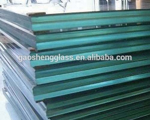Trade assurance flat curved 6+0.76+6mm bronze laminated glass for window