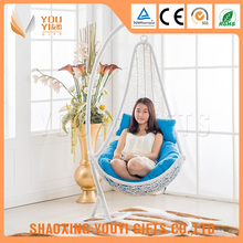 Promotional outdoor balcony egg chair swing