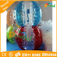 Powerful toys craft red and blue bubble ball,,inflatable balls for people