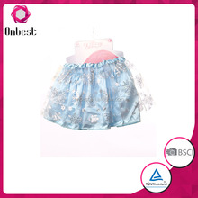 2015 best selling fashion snowflake tutu shirt frozen party fancy costumes short tutu dress FS1043 for kids