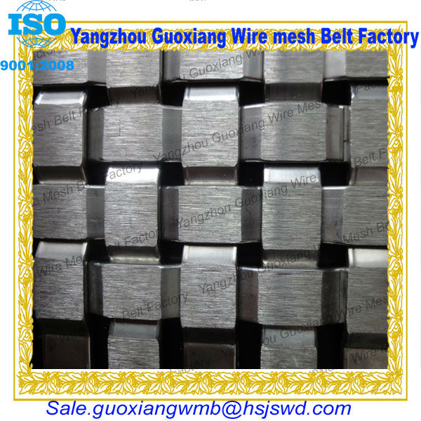 plain weave wire mesh belt for heavy weight item made of strong stainless steel