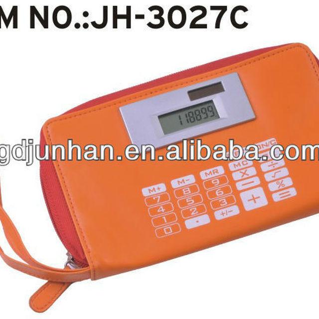 Fashion leather calculator bag