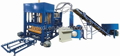 20 Years Factory price hollow cement soil fly ash automatic concrete block brick making machine price QT4-25