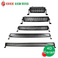 Hot new auto parts curved 480w 50 inch 4x4 led light bar with 4D reflectors