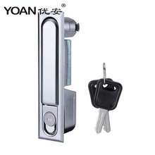 Custom zinc alloy push button Plane lock electrical panel latch Cabinet Lock with 2 keys