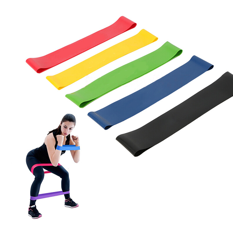 5 Sizes Per Set,Exercise Fitness Custom Elastic Rubber Printed <strong>Resistance</strong> Bands,MOQ 2 Set