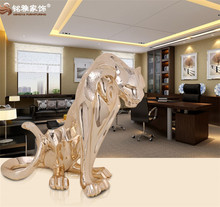 Modern home decor craft customized resin ornament polyresin animal leopard statue for office
