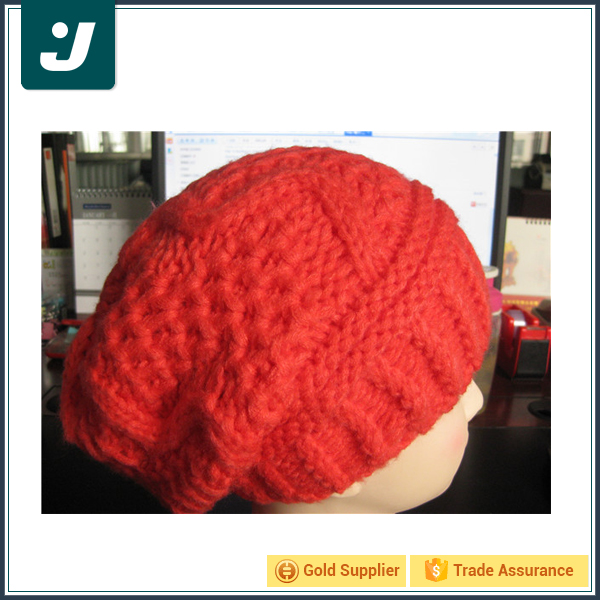 Latest product red knit hat custom slouch beanie wholesale