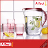 AS tansparent High quality 2L cold water jug set with 4 cups plastic water pitcher
