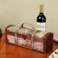 Antique Design Cheap Wooden Boxes for Wine Bottles