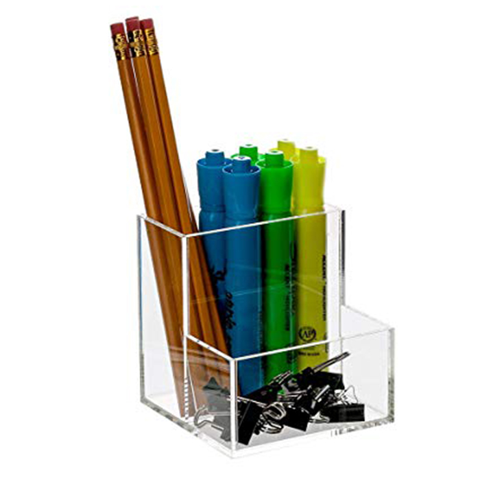 Acrylic Desktop Stationery Organizer Office Desk Accessory Pencil and Pen Holder