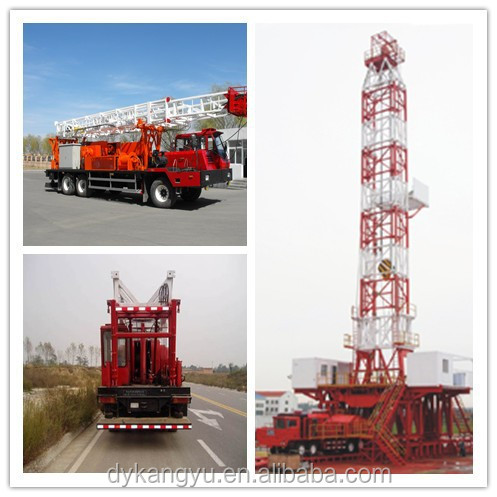 Oilfield truck mounted rig oil well service workover rig