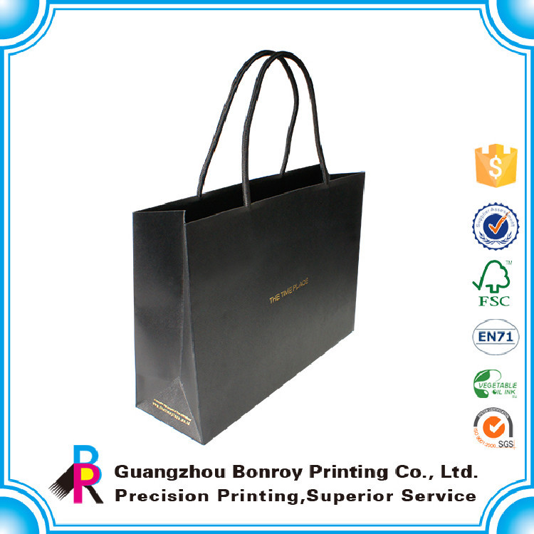 2015 manufacture customized famous handmade paper bag for garment