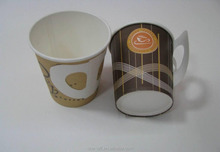 4oz-10oz paper cup with lid with handle