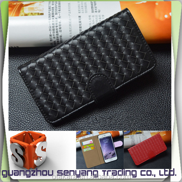 Guangzhou Mobile Accessories for iphone 6s Handmade Weaving Flip Cover