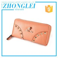 Wholesale zip around leather wallet for women