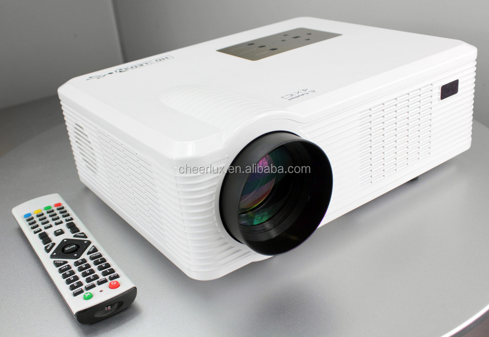 With Led Lamp Support 1080p 3D Lcd Projector 260 Inch Big Screen 16:9 Speaker Build In