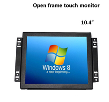 Factory design open frame 10 10.4 inch hdmi touch screen kiosk lcd monitor