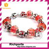 2015 Newest Charm Crystal Murano Glass Beads European Bracelet