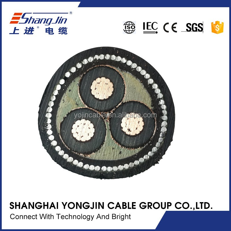 Stranded Copper Core SWA Underground MV Cable 3 Cores 185sqmm 150sqmm 120sqmm
