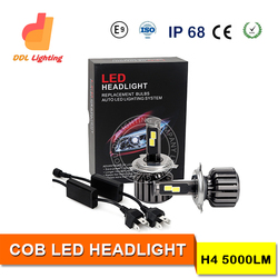 New Products Auto Parts led h4 headlights 12v 3600LM 40W COB Chip 6S H4 Car Led Motorcycle Headlight