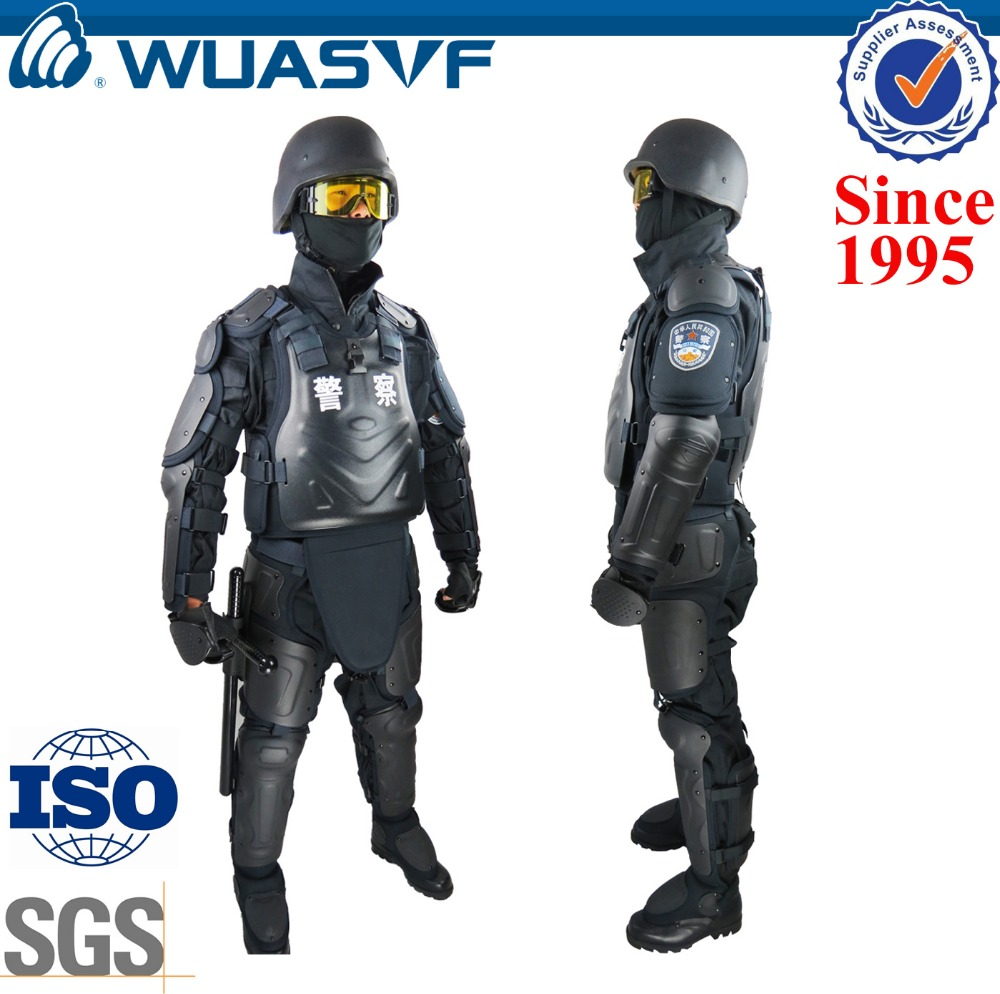 police security equipment and uniform