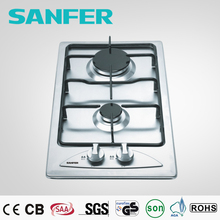 Stainless steel 2 burner low price nature gas stove