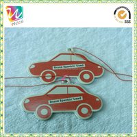 customized paper shape designer car air freshener