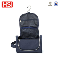 rip-stop polyester hanging travel cosmetic bag for man
