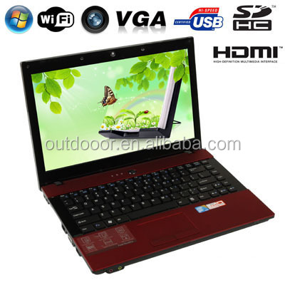 14.1 inch Notebook Computer with WIFI & DVD Drive, 1.3 Mega Pixels Camera, 160GB Hard Disk, Windows XP OS, Support VGA