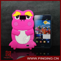 Frog shape 3D stereoscopic silicon cellphone case for samsung galaxy s2 i9100