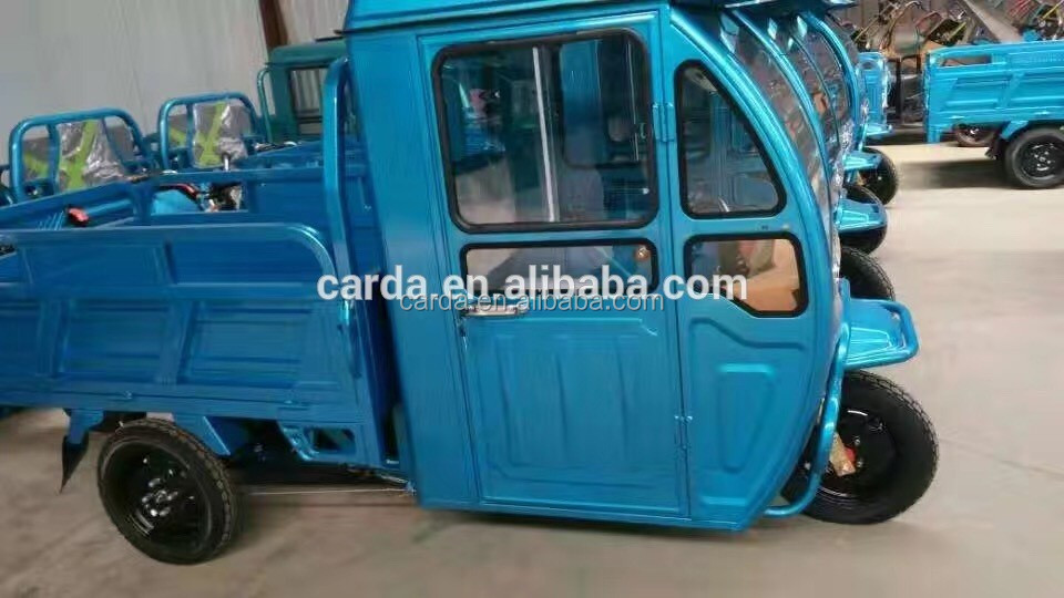 electric cargo tricycle with driver cab electric cargo tricycle with driver cab electric cargo motorcycle for deliver goods