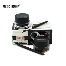 Hot Selling Brand Music Flower 2 In 1 Brown + Black Waterproof Smudge-proof Cosmetics Set Gel Eyeliner Makeup