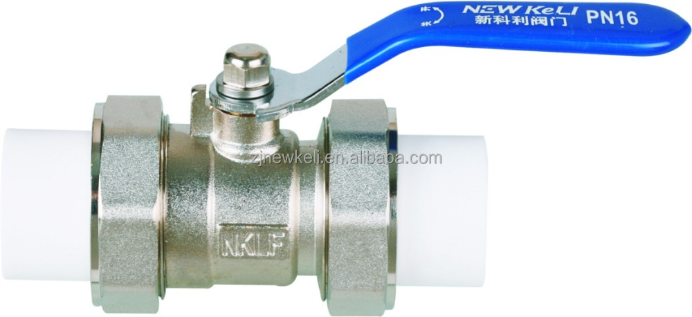 double union ball valve/PPR copper ball valve